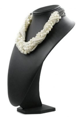 Chunky Pearl Necklace Braided Choker