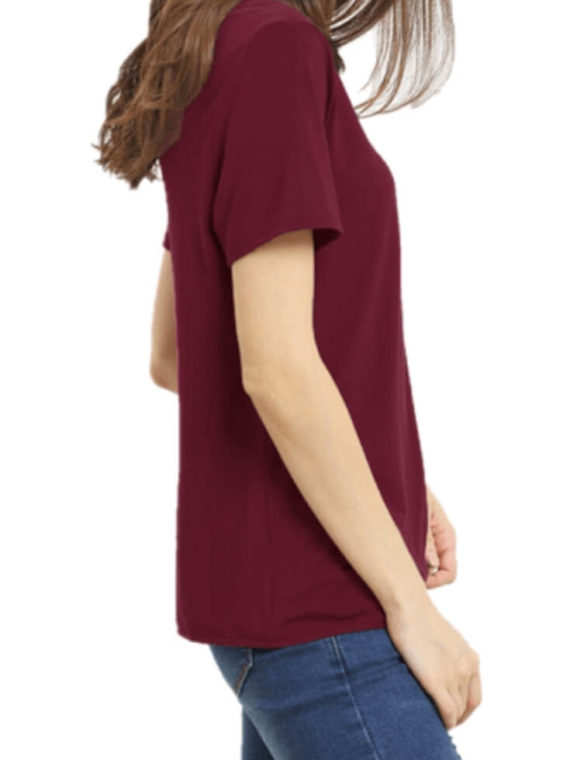 Criss Cross Front Top Casual Short Sleeve