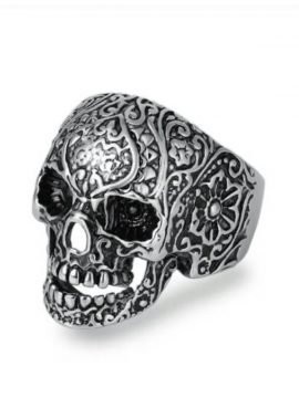 Rocker Skull Ring Hollow Eyes Design