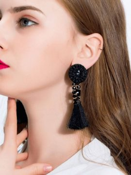 Beaded Tassel Earrings Bohemian Style 1