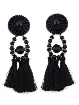 Beaded Tassel Earrings Bohemian Style