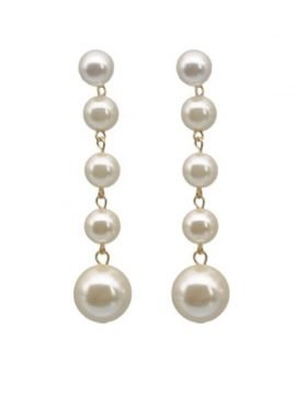 Linear Pearl Drop Earrings Statement Jewelry