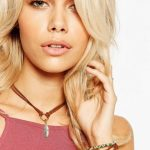 Leather Choker Silver Tone Feather Design
