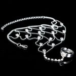 Chain Ring Bracelet Crystal Egyptian Jewelry