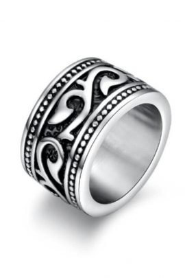 Engraved Band Rings Stainless Steel