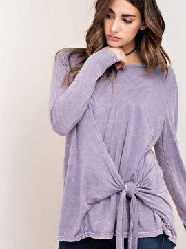 Front Knot Mineral Washed Top