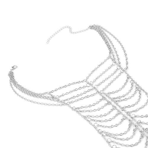 Multilayer Chain Necklace Statement Choker