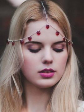 Head Chain Jewelry Sweet Heart Design