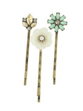 Vintage Bobby Pins Cute Floral Design