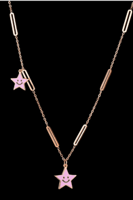 Enamel Star Necklace Stainless Steel
