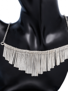 Metal Tassel Choker Boho Collar Necklace