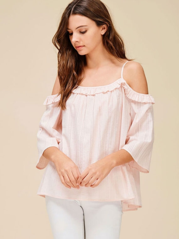 944987a2302 Ruffle Off Shoulder Top Cute Relaxed Fit ...