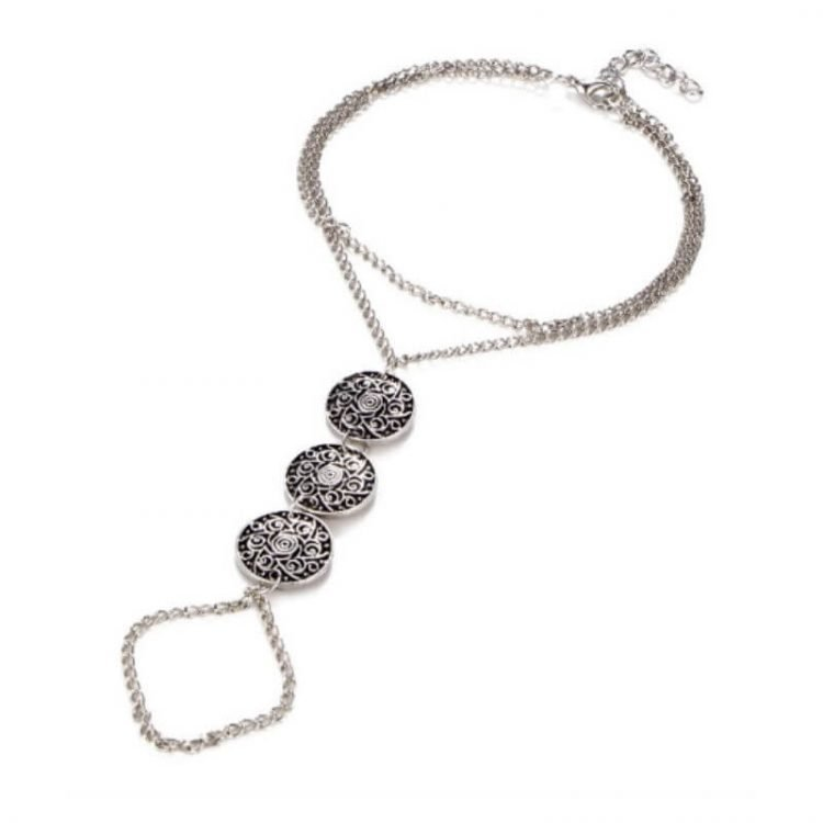 Silver Coin Anklet Bohemian Foot Jewelry