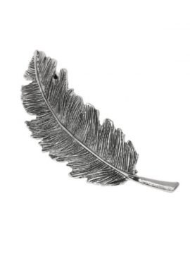 Silver Leaf Hair Clip Cute Metal Barrette
