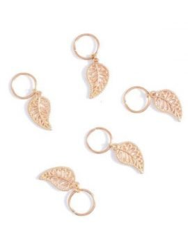 Hair Charms Silver Gold Tone Leaf Design