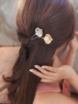 Leaf Bobby Pins Cute Pearl Hair Jewelry