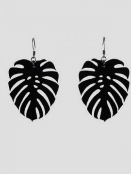Palm Leaf Drop Earrings Tropical Breeze