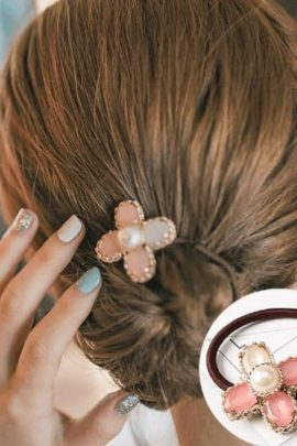 Pearl Ponytail Holder Hair Accessories