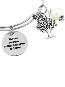 Tree Of Life Bracelet Faux Pearl Charm