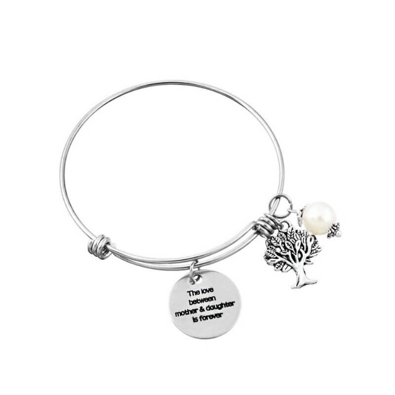 Life Charms The Love Between A Mother And Daughter Is Forever Bracelet