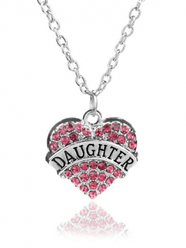 Personalized Necklaces Silver Tone Heart Pendant