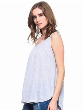 Swing Drape Top Criss Cross Back Tunic