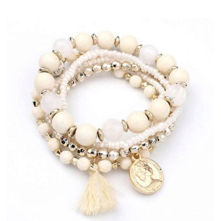 Multi Layered Stretch Bracelet Tassel Design