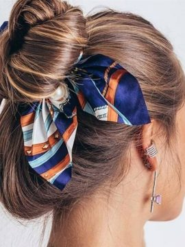 Hair Tie Scrunchie Chic Bow Design