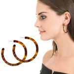 Chic Tortoise Hoop Earrings