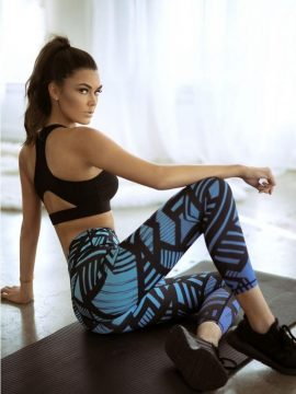 Geometric Design Sports Leggings