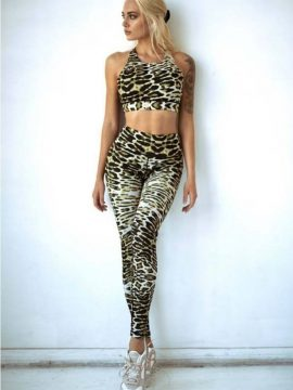 Leopard Print Workout Set