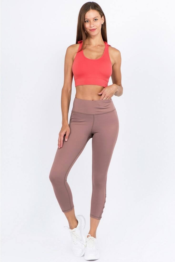 Mesh Ankle Workout Leggings