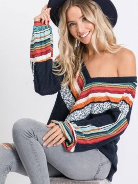 Long Sleeve V-Neck Tunic Top